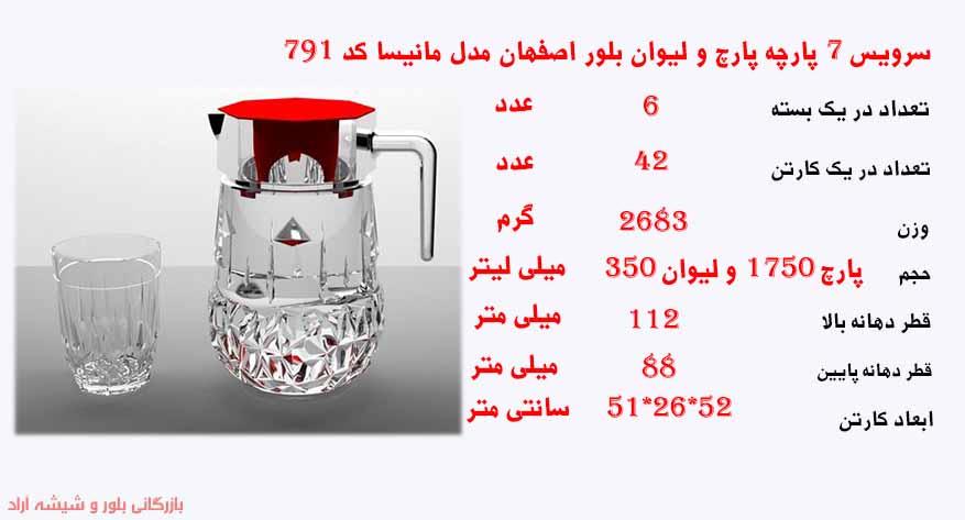 فروش عمده لیوان بلور اصفهان